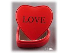Heart-shaped Leather Jewlery Box