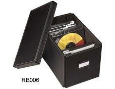 Black CD Leather Storage Box