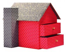 House-shaped Craft Storage Boxes