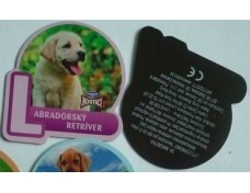 fridge magnet with dog design